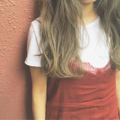 外国人風 ストリート ハイトーン ロング ヘアスタイルや髪型の写真・画像