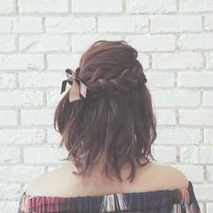 大人かわいい 冬 デート ヘアアレンジ ヘアスタイルや髪型の写真・画像