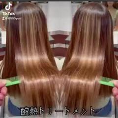 最新トリートメント 艶髪 ナチュラル 髪質改善 ヘアスタイルや髪型の写真・画像