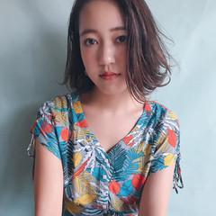 女子会 ウェーブ ボブ 梅雨 ヘアスタイルや髪型の写真・画像