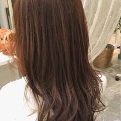 外国人風カラー リラックス ロング グレージュ ヘアスタイルや髪型の写真・画像