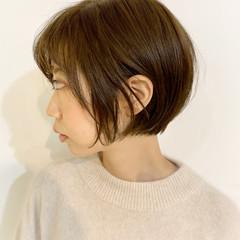 ショートボブ 透明感 ボブ 小顔 ヘアスタイルや髪型の写真・画像