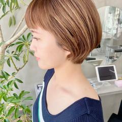 ショート オフィス ベリーショート ナチュラル ヘアスタイルや髪型の写真・画像