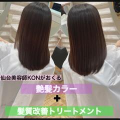 髪質改善 ロング ナチュラル うる艶カラー ヘアスタイルや髪型の写真・画像