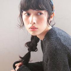 大人かわいい 簡単ヘアアレンジ ヘアアレンジ 暗髪 ヘアスタイルや髪型の写真・画像