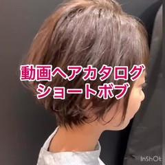 ショート ショートボブ ミニボブ ショートヘア ヘアスタイルや髪型の写真・画像