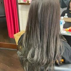グラデーション セミロング グラデーションカラー ナチュラルグラデーション ヘアスタイルや髪型の写真・画像