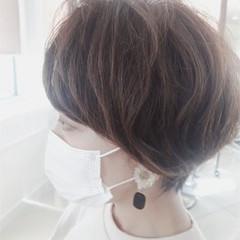 切りっぱなしボブ ショートボブ ショート ミニボブ ヘアスタイルや髪型の写真・画像