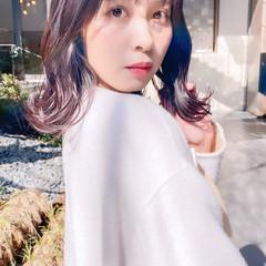 韓国ヘア ラベンダーアッシュ ナチュラル ミルクティーグレージュ ヘアスタイルや髪型の写真・画像