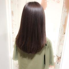 デート グレージュ ナチュラル 透明感 ヘアスタイルや髪型の写真・画像