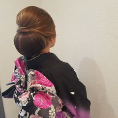 和装 ヘアアレンジ ロング 成人式 ヘアスタイルや髪型の写真・画像