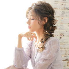 ミルクティーベージュ ロング ヘアアレンジ ミルクティーグレージュ ヘアスタイルや髪型の写真・画像