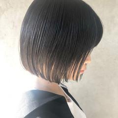 ショートボブ 黒髪 ナチュラル ミニボブ ヘアスタイルや髪型の写真・画像