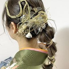 ミディアム 成人式 成人式カラー 成人式ヘアメイク着付け ヘアスタイルや髪型の写真・画像