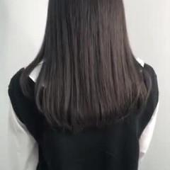 ロング 髪質改善 暗髪 チョコレート ヘアスタイルや髪型の写真・画像