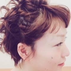 キュート ナチュラル ガーリー ショート ヘアスタイルや髪型の写真・画像