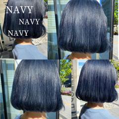 韓国風ヘアー ナチュラル 韓国ヘア 切りっぱなしボブ ヘアスタイルや髪型の写真・画像
