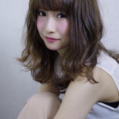 大人かわいい ガーリー ミディアム フェミニン ヘアスタイルや髪型の写真・画像