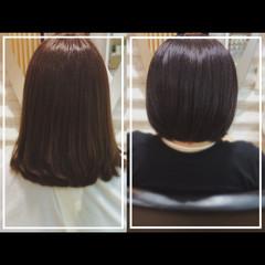 髪質改善カラー セミロング 大人ヘアスタイル ナチュラル ヘアスタイルや髪型の写真・画像