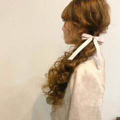 ポニーテールアレンジ ロング ローポニー ポニーテール ヘアスタイルや髪型の写真・画像