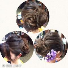 アップスタイル ヘアアレンジ ロング 成人式 ヘアスタイルや髪型の写真・画像