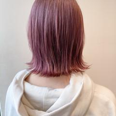 ピンクベージュ ピンクバイオレット ピンクブラウン ピンクアッシュ ヘアスタイルや髪型の写真・画像