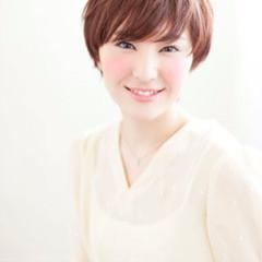 外ハネ ショート 簡単ヘアアレンジ ヘアアレンジ ヘアスタイルや髪型の写真・画像