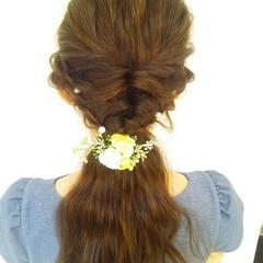ヘアアレンジ ロング ブライダル パーティ ヘアスタイルや髪型の写真・画像