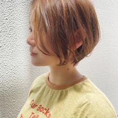 ハンサムショート ショートヘア ナチュラル ショートボブ ヘアスタイルや髪型の写真・画像
