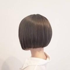 ナチュラル ボブ 夏 オフィス ヘアスタイルや髪型の写真・画像