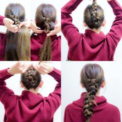 ヘアアレンジ セルフヘアアレンジ 簡単ヘアアレンジ ロング ヘアスタイルや髪型の写真・画像