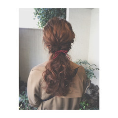 ハーフアップ ロング ショート アッシュ ヘアスタイルや髪型の写真・画像