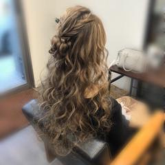 ヘアアレンジ ロング フェミニン ヘアセット ヘアスタイルや髪型の写真・画像