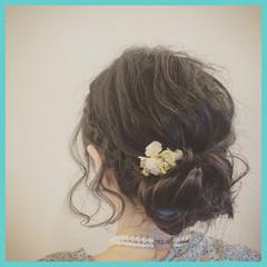ゆるふわ 大人かわいい ミディアム 簡単ヘアアレンジ ヘアスタイルや髪型の写真・画像