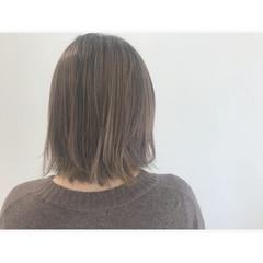 ボブ 外国人風 ミルクティー ハイライト ヘアスタイルや髪型の写真・画像