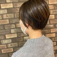 ハンサムショート ショート 大人ショート スロウ ヘアスタイルや髪型の写真・画像