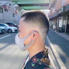 メンズヘア フェードカット ショート スキンフェード ヘアスタイルや髪型の写真・画像