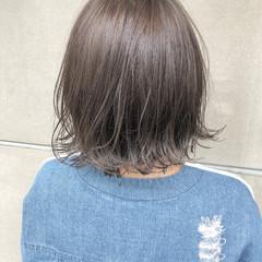 アウトドア ナチュラル デート ボブ ヘアスタイルや髪型の写真・画像
