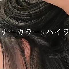 外ハネ ハイライト 3Dカラー フェミニン ヘアスタイルや髪型の写真・画像