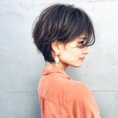ショート ナチュラル 簡単ヘアアレンジ デート ヘアスタイルや髪型の写真・画像