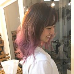 ピンクラベンダー ピンク ピンクアッシュ ピンクブラウン ヘアスタイルや髪型の写真・画像