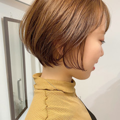 ショート デート ベリーショート ゆるふわ ヘアスタイルや髪型の写真・画像