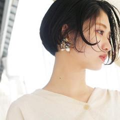 ナチュラル ショートヘア ミニボブ ベリーショート ヘアスタイルや髪型の写真・画像