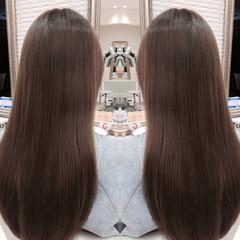 ストレート 外国人風 ブラウン 艶髪 ヘアスタイルや髪型の写真・画像
