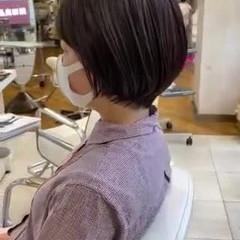 ナチュラル グレージュ ショートヘア 透明感カラー ヘアスタイルや髪型の写真・画像
