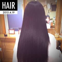 ナチュラル 黒髪 ストレート ロング ヘアスタイルや髪型の写真・画像