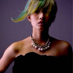 ストリート モード グラデーションカラー ショート ヘアスタイルや髪型の写真・画像