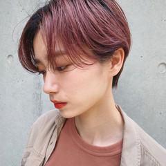 インナーカラー ショートヘア ミニボブ ベリーショート ヘアスタイルや髪型の写真・画像