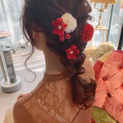結婚式ヘアアレンジ ナチュラル ヘアアレンジ ゆるふわセット ヘアスタイルや髪型の写真・画像