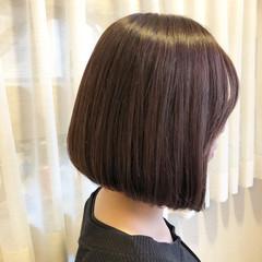 外国人風カラー ショートボブ 前下がり 艶髪 ヘアスタイルや髪型の写真・画像